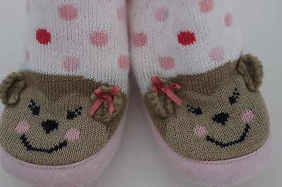 infant baby girl slippers socks booties size