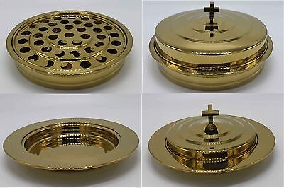 Brasstone--Stainless Steel Communion Tray set and Bread Tray set  (BRAND NEW)