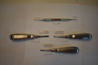 Set Of 4 Dental Scaler And Elevators 5023263 5024206 207 208