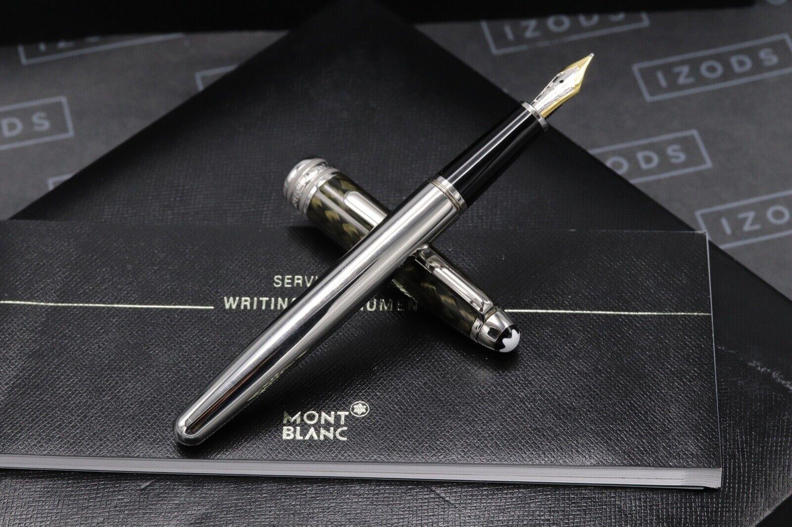 Montblanc Meisterstuck 144 Classique Carbon Steel Fountain Pen 1