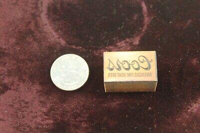 Vintage Metal Wood Printing Print Block Stamp Coors Light L14
