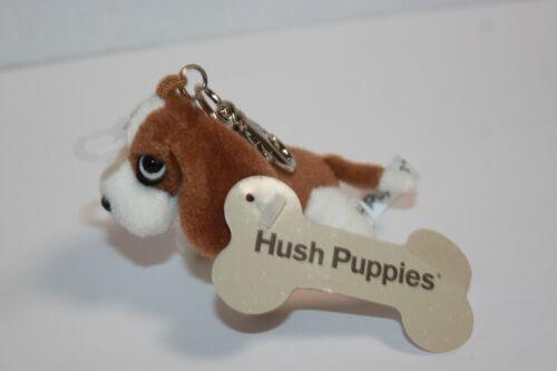 Hush Puppies Mini Plush Basset Hound Key Ring Zipper Pull NWT
