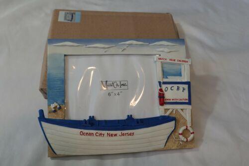 "Lot of 2!  OCEAN CITY NJ OCBP Beach Patrol Lifeguard Beach 6""x4"" Picture Frame"