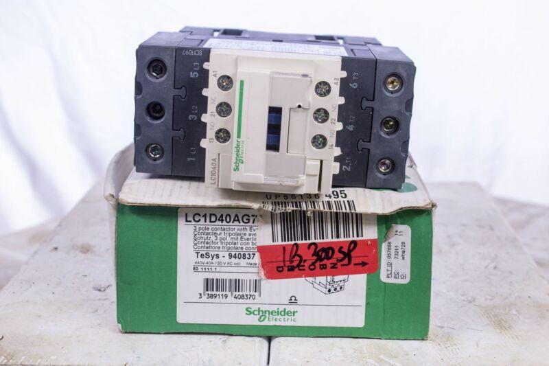 Schneider LC1D40AG7 120VAC IEC Magnetic Contactor