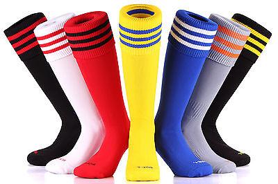 SAMSON® FOOTBALL STRIPED SOCKS KNEE HIGH MADE UK HOCKEY RUGBY SOCCER MENS (Rugby Stripe Knee Socks)