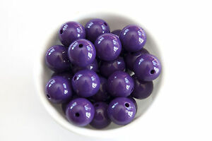 Dark-Purple-Solid-20mm-Chunky-Acrylic-Beads-10ct-for-Bubblegum-Necklace-122