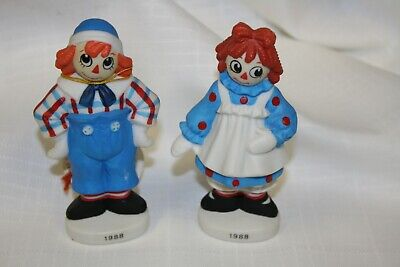 Vintage Raggedy Ann and Andy 1988 Christmas ornaments