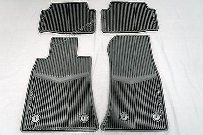 22759927 2013-2018 Cadillac ATS OEM Jet Black Rubber Floor Mats Front & Rear NEW