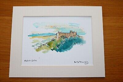 David Kearney  watercolour/pen Harlech Castle (7
