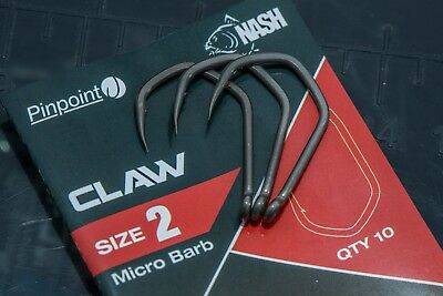 Nash Pinpoint Claw Hooks Carp Fishing 10 Pack