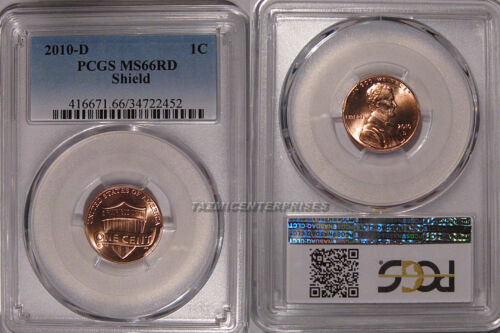 2010 D Lincoln SHIELD Cent 1c PCGS MS66RD