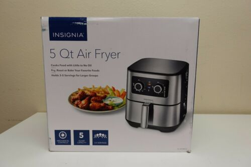 Insignia- 5-qt. Analog Air Fryer Stainless Steel NS-AF53MSS0 (8A-OB)
