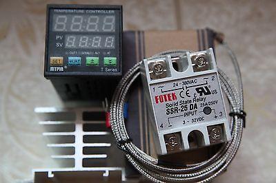 Digital Fc Pid Temperature Controller Ta4-snr K Sensor 25a Ssrheat Sink