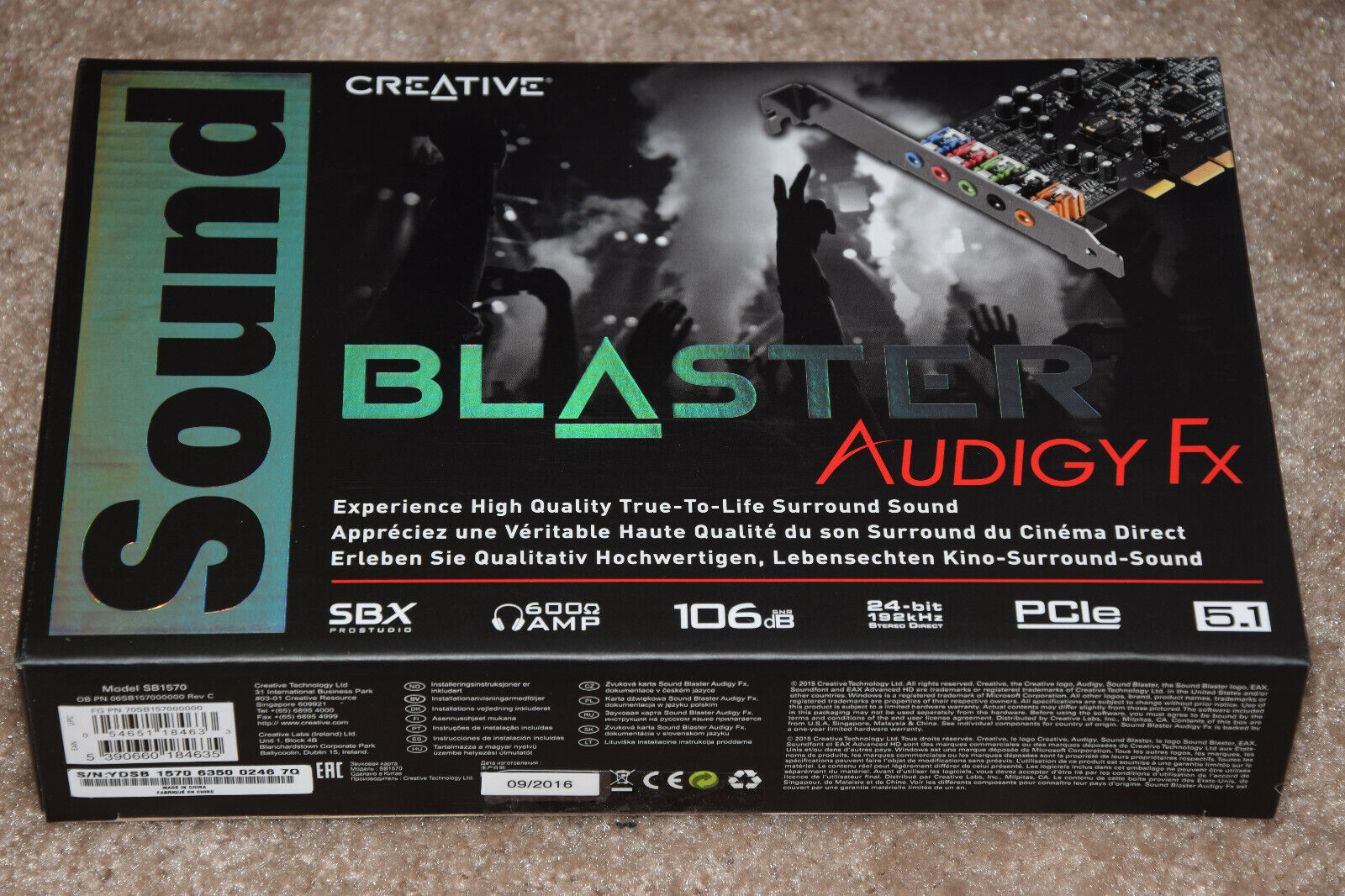 Creative Sound Blaster Audigy FX 5.1 PCIe Audio Card with Hi