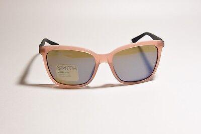 SMITH OPTICS COLETTE SUNGLASSES CARBONIC LENSES BLUSH 55-17-135 NEW WITH (Colette Smith Sunglasses)