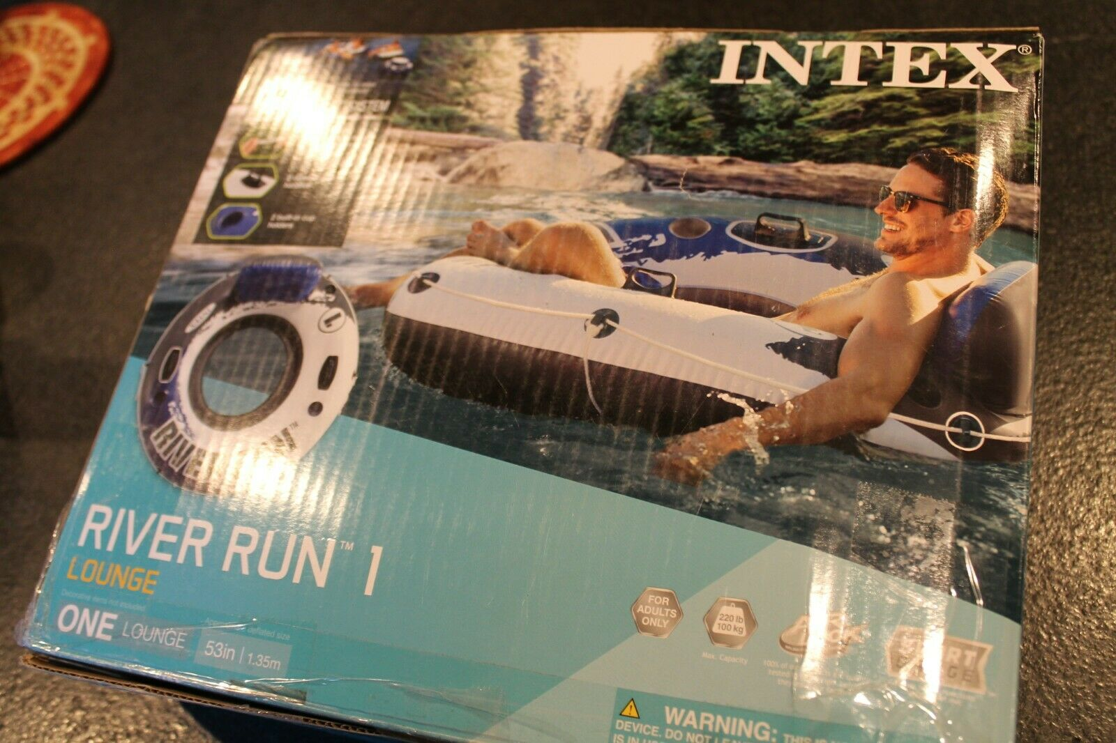 Intex River Run I Sport Lounge, Inflatable Water Float, 53""