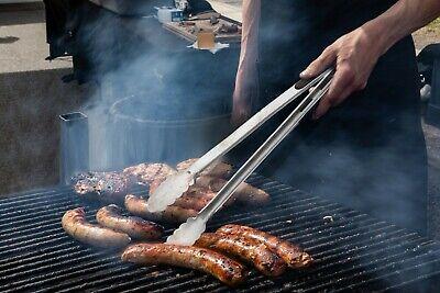 Set Of 2 Multi Purpose Metal Kitchen Tongs Food Serving Grill Cooking 12
