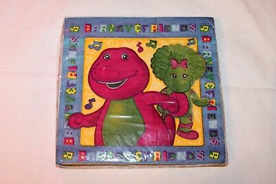NAPKINS  PARTY SUPPLIES (Barney Party Supplies)
