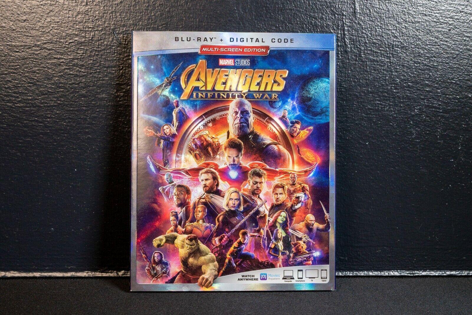 Marvel Studios Avengers Infinity War Blu-ray / Digital HD Excellent Condition  - $8.50