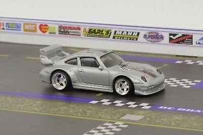 Hot Wheels Silver Porsche Series 993 GT2 Real Riders Super Custom