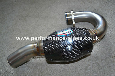 PRO CARBON Fibre Heat Shield Exhaust Guard for SMALLER FMF MEGABOMB Header Pipe