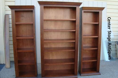 00001 3 piece Mahogany Bookcase Curio China Cabinet