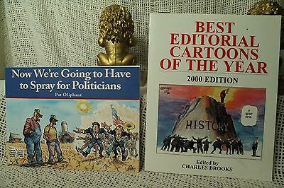 Best Editorial Cartoons of the Year 2000 Political cartoons lot 2 books