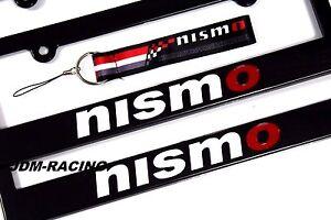 x2 NISMO Racing License Plate Frame For NISSAN 350Z 370Z 240SX 300ZX MURANO JUKE