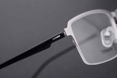 Mens Pure Titanium Half Rimless Eyeglass Frames Rx Spectacles Glasses Wide (Mens Glasses Wide Face)