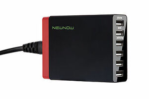 Multi Port USB Mains Charger 6 Ports Adapter Travel Wall AC Power Supply UK Plug