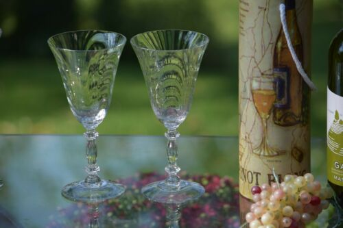 Vintage Wine Glasses ~ Water Goblets, Set of 4, Cambridge, 1950