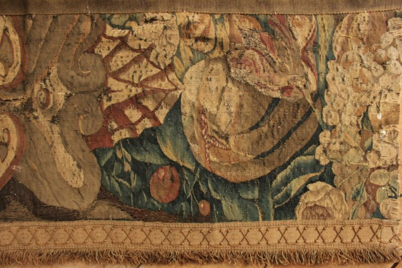 c1750 Aubusson tapestry wall hanging 18th century textile French
