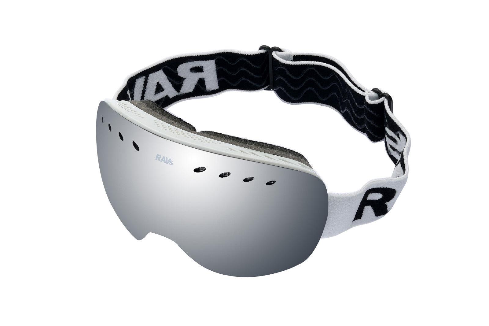 Ravs Schutzbrille  Skibrille Snowboardbrille Ski goggles Silber Scheibe Antifog