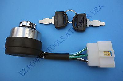 Rural King 6000E 6500E 8000E 10000E Gas Generator Ignition Key Switch