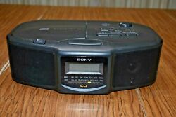 Sony ICF-CD800 Stereo Clock Radio, CD Player, AM/FM, Tested, Working Condition!