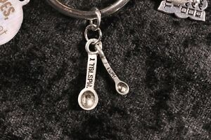 Always Measure! Measuring Spoons Weight Loss Charm for Weight Watchers Ring