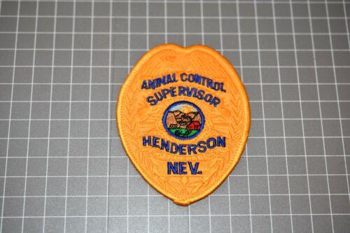 Animal Control Supervisor Henderson Nevada Patch (S03-1)