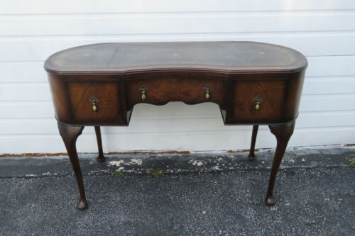Kidney Shape Queen Anne Legs Writing Desk Vanity Table 1321