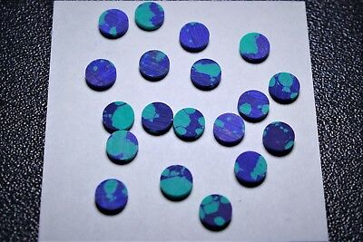 Inlay Set (1 set of 12pcs inlay material reconstitute Azurite Malachite Stone dots)