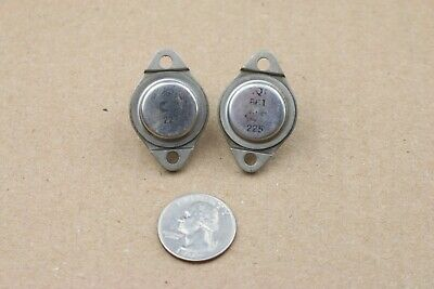 Pair Vintage Ct 861 Transistor To-3