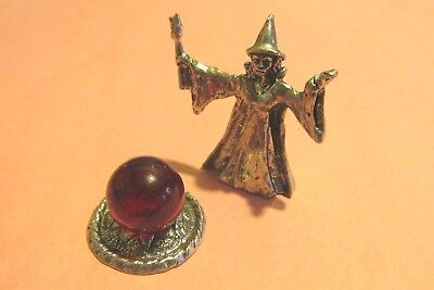 Pewter Witch  Figurine With Crystal Ball (Witch With Crystal Ball)