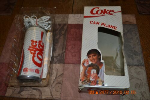 DIET COKE COCA-COLA SODA CAN PUSH BUTTON TELEPHONE LANDLINE VERY RARE HTF ITEM