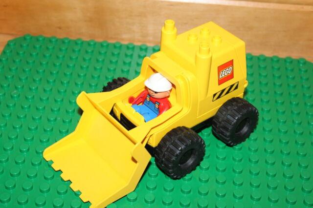Lego Duplo Baustelle - grosser Bagger mit Bauarbeiter - Front Lader K25