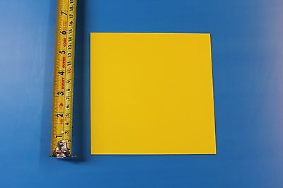 Yellow Polystyrene Plastic Sheet .015 X 6 X 6 Thermoforming Lot Of 25