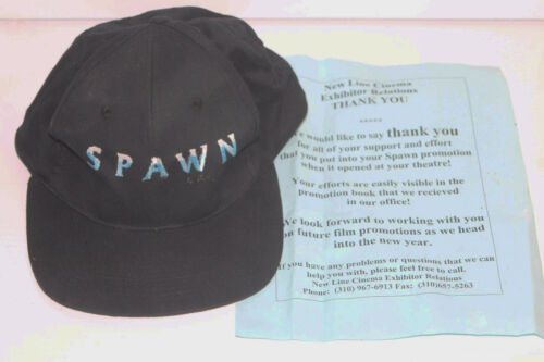 Vintage 1997 Spawn Movie Poster Promo Hat Cap w/ Movie Theater New Line Letter