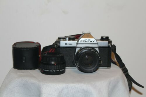 Camera Pentax K 1000 with lenses and 2X converter manual