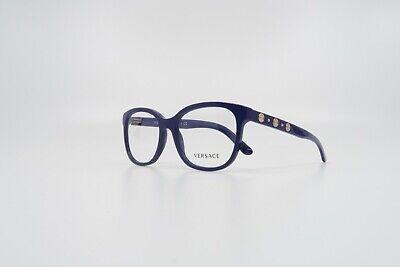 Versace Women's Shiny Purple/Gold Studs Glasses w/ Case MOD 3203 5120 (Versace Prescription Glasses)