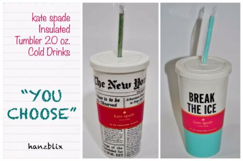 """kate spade Insulated Tumbler 20 oz. Cold Drinks """"YOU CHOOSE"""""""