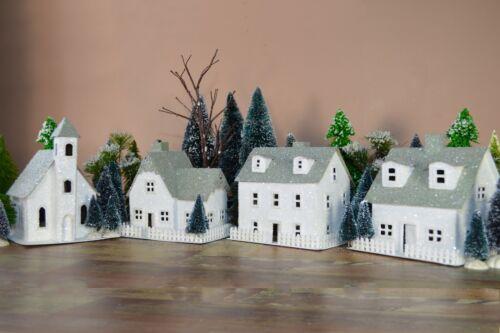 Putz House Village - Kit makes 4 large houses Putz Houses