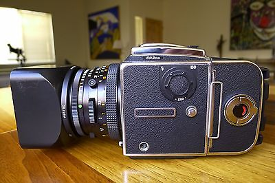 HASSELBLAD 503CW CAMERA SH 80MM CF T* LATE KIT A12 EXC+++ MINT GLASS